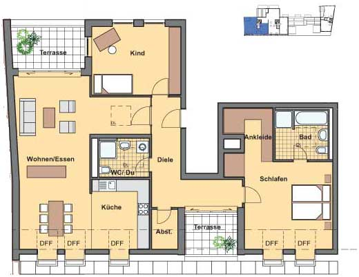 3-х комнатная квартира в
