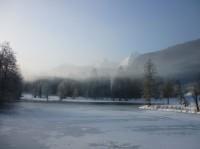 Вид зимой с балкона