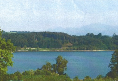 Вид из дома на озеро. Эта вилла в Баврии - настоящая редкость
