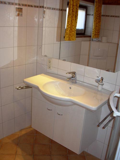 Часть ванной комнаты первый этаж