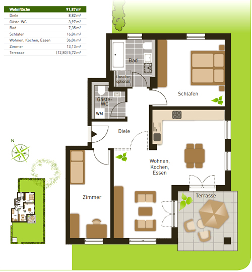 Квартира в берлине продажа променад марина дубай на карте район